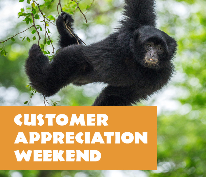 Customer Appreciation Weekend Valid Sep 26 or 27 only